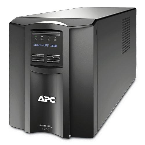 ИБП APC Smart-UPS 1500VA/980W, Line-Interactive, LCD, Out: 220-240V 8xC13 (4-Switched), SmartSlot, USB, HS User Replaceable Bat, Black, 3(2) y.war. (REP: SUA1500I) - SMT1500I