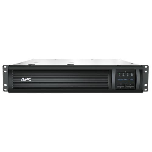 ИБП APC Smart-UPS 750VA/500W, RM 2U, Line-Interactive, LCD, Out: 220-240V 4xC13 (2-Switched), SmartSlot, USB, HS User Replaceable Bat, Black, 3(2) y.war.(REP: SUA750RMI1U, SUA750RMI2U) - SMT750RMI2U