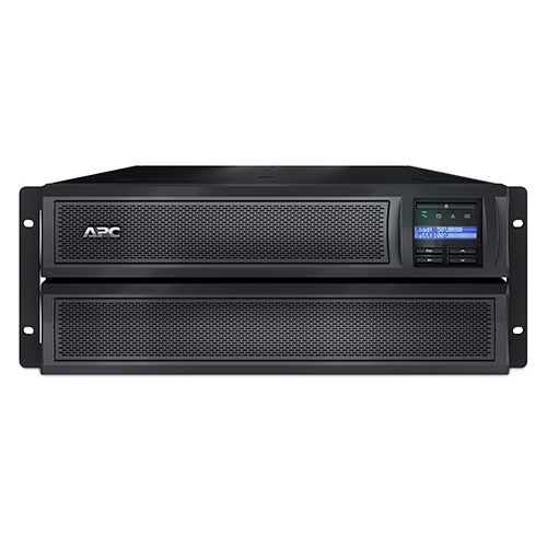 ИБП APC Smart-UPS X 2200VA/1980W, RM 4U/Tower, Ext. Runtime, Line-Interactive, LCD, Out: 220-240V 8xC13 (3-gr. switched) 2xC19, Pre-Inst. Web/SNMP, USB, COM, EPO, HS User Replaceable Bat, Black, 3(2) y.wa - SMX2200HVNC