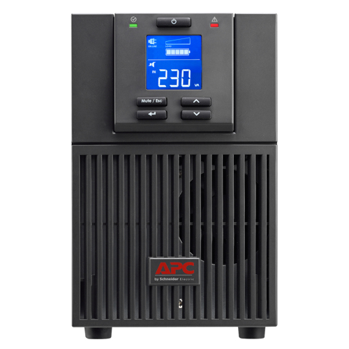 ИБП APC Smart-UPS SRC, 2000VA/1600W, On-Line, Tower, LCD, USB, SmartSlot, PowerChute, Black - SRC2KI