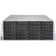 Supermicro SuperStorage 4U Server 6049P-E1CR36L noCPU(2)Scalable/TDP 70-205W/ no DIMM(16)/ 3008RAID HDD(36)LFF/ 2x10Gbe/ 5xFH/ 2x1200W