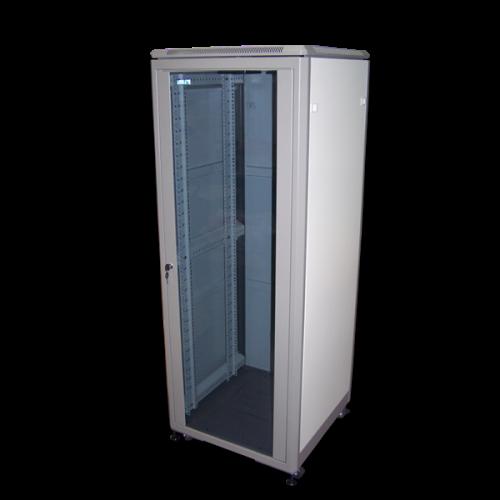 """Шкаф 19"""" Eco, 42U 600x800, серый, дверь стекло - TWT-CBE-42U-6x8"""