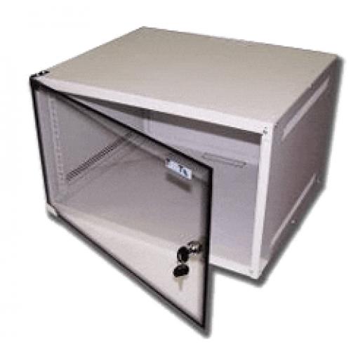 Шкаф настенный Lite, 9U 520x450, стеклянная дверь
