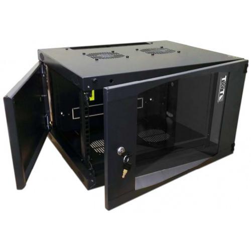 Шкаф настенный Next, 12U 550x600, стеклянная дверь, черный