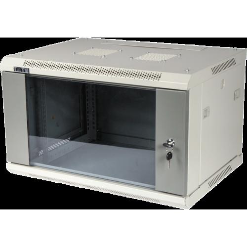 Шкаф настенный серии Pro, 9U 600x450, стеклянная дверь