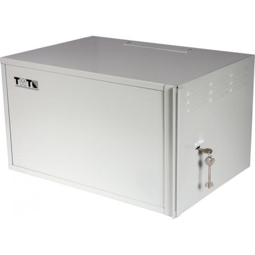 Шкаф антивандальный пенального типа, 6U 600x400 мм, серый