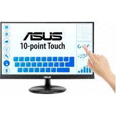 "ASUS 21.5"" VT229H Touch IPS LED, 1920x1080, 5ms, 250cd/m2, 178°/178°, 100mln:1,  D-SUB, HDMI, USB, колонки, Tilt, VESA, Black, 90LM0490-B01170"