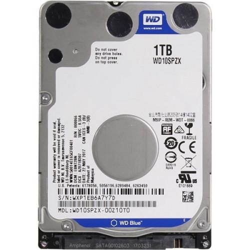 """Western Digital HDD 2.5"""" SATA-III  1000GB Blue WD10SPZX  5400RPM  128Mb buffer 7mm"""
