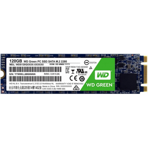 Western Digital SSD Green 120Гb SATA-III M2.2280 3D NAND WDS120G2G0B