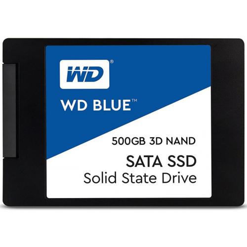 """Western Digital SSD BLUE 500Gb SATA-III 2,5""""/7мм 3D NAND WDS500G2B0A (аналог WDS500G1B0A)"""